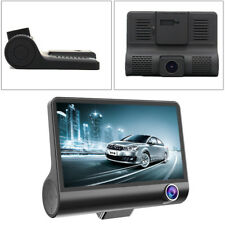 4'' HD 1080P Dual Lens DVR Dash Cam G-sensor Video Recorder & Rearview Novel