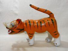 Japanese Folk Toy Papier-mache Bobblehead Doll 19cm / Tigar