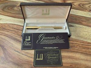 NOS Vintage Dunhill Gemline Fountain Pen Gold 14K 585 EF Nib