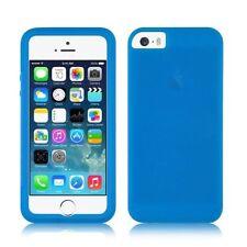Étuis, housses et coques bleu mat en silicone, caoutchouc, gel pour téléphone mobile et assistant personnel (PDA)