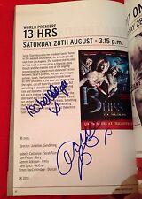 Gemma Atkinson & Isabella Calthorpe Signed Frightfest Magazine Emmerdale 13 Hrs
