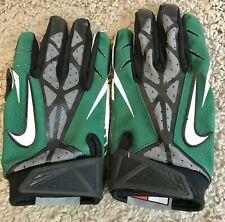 Nike Vapor Jet Football Gloves Green/Black/Gray Size Large Rn #56323 Ca#05553