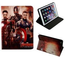 For Apple iPad 2 3 4 Avengers Iron Man Captain America Marvel DC Case Cover