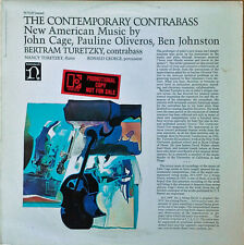 CONTEMPORARY CONTRABASS / NEW AMER. MUSIC - JOHN CAGE, P. OLIVEROS - NONESUCH LP