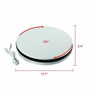 Round White Electric Motorized 360 Degree Rotating Display Stand Turntable Stand