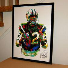 Joe Namath New York Jets Quarterback Football Sports Poster Print Wall Art 18x24