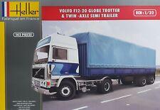 HELLER® 81703 Volvo F12-20 Globe Trotter & Twin-Axle Semi-Trailer in 1:32