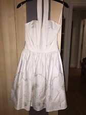 White Detailed Ten Baker Marilyn Monroe Style Summer Dress