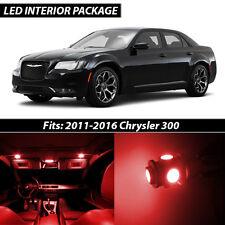 2011-2016 Chrysler 300 Red Interior LED Lights Package Kit