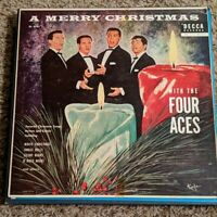 """Vintage """"A Merry Christmas With The Four Aces"""" Vinyl LP Record"""