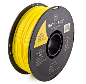 HATCHBOX ABS 3D Printer Filament,1 kg Spool, 3.00 mm, Yellow Free Shipping