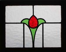 Pretty ART DECO English Tulip Stained glass window