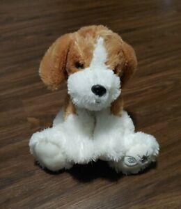 "Russ Shining Stars Beagle Puppy Dog Stuffed Animal Plush 10"" White Brown"