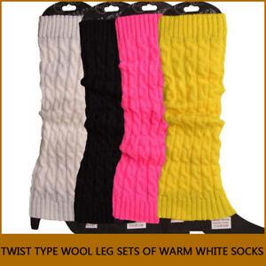 Ladies Winter Leg Warm Sock Knee High Plush Knit Crochet Leggings Boots Sock HOT