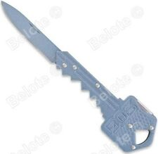 "SOG Key Knife Powder Blue Lockback Folder 5Cr13MoV Steel 4"", 0.7 oz KEY-106B NEW"