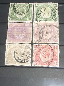 George V. K.U.T. stamps  to 5/-