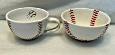 Baseball Themed Bowl And Cup, Glass