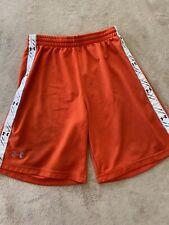 Under Armour YOUTH Size Medium Orange Athletic Shorts Logo