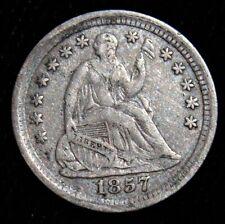 1857 H10C Half Dime