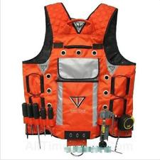 Carpenter Electrician Framer Plumber Craftman Construction Vest Tool Orange