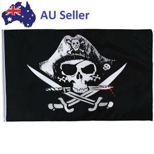 Skull & Crossbones Sabres Swords Jolly Roger Pirate Flag Party Banner Decoration