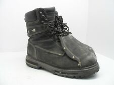 DAKOTA Men's 8'' Guard Steel Toe Steel Plate Metguard Work Boot Black 10.5M