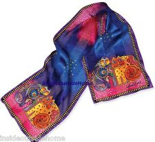 Laurel Burch Kitty Cats Kindred Felines Silk SCARF Gorgeous Colors NEW Retired