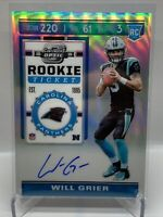 WILL GRIER  2019 PANINI CONTENDERS OPTIC PRIZM ROOKIE TICKET AUTO RC