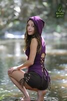 Pixie Hood Top, Elven Fairy Festival Psytrance Goa Rave Boho Hippie Burning Man