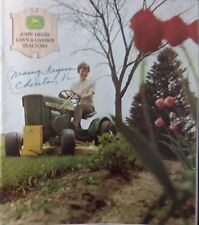 John Deere 1966 era 112 60 110 Sales Color Brochure Lawn Garden Tractor Catalog