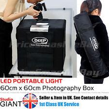 PROFESSIONAL PHOTO STUDIO KIT LED 60CM LIGHT BOX CUBE TENT PORTABLE PHOTOGRAPHY
