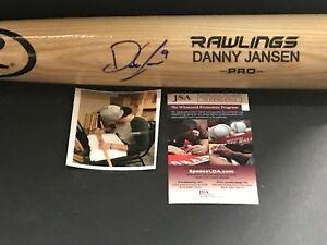 Danny Jansen Toronto Blue Jays Signed Engraved Bat JSA WITNESS COA Blonde A
