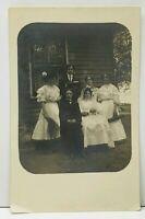 RPPC Early 1900s Outdoor Wedding Family Photo Postcard C6