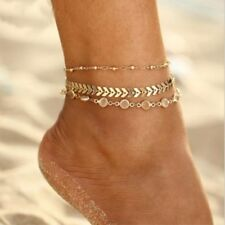 3 Pcs/Pack Crystal Anklet For Women Bracelet on the Leg Bohemian Ankle Strap