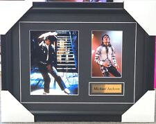 MICHAEL JACKSON SIGNED PHOTO COLLAGE FRAMED WITH GOLD PLAQUE GREAT GIFT IDEA