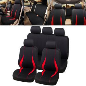 Banco Traseiro Car Seat Cover Protetor De Almofada Couro Ecológico na tubulação Vermelho Preto