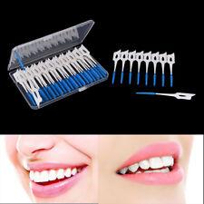 40pcs Disposable Toothpicks Soft Clean Interdental Seam Brush Elastic Massage FL