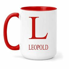 Leopold Name & Initial Mug - Gift in Many Colours For Tea or Coffee