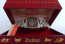 RARE NOS VINTAGE ZODIAC SST DAY/DATE AUTOMATIC NEW OLD STOCK BOX TAG LADIES 70'S