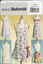 Butterick Apron Pattern 4945 5 Styles Half, Tie-Back Wrap, 3 Fulls Sz SML Uncut