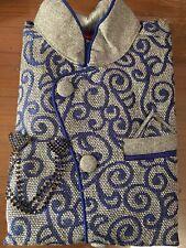 """24"""" Age 3 To 5 Size Boys Kurtha Indian Sherwani Bollywood Suit Blue Grey  B31"""