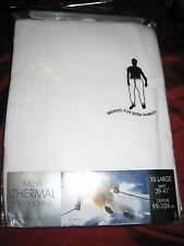 ( NEW )  MENS WHITE THERMAL LONG JOHNS  WAIST 39-41  SIZE XL