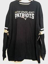 NWT NFL New England Patriots Men's T-shirt Sleeveless Navy Blue Long Sleeve 3XL