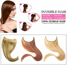 Full Head Hidden Remy in Invisible Wire 100% Human Hair Extensions Set 70 90g