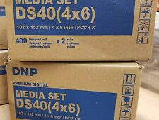 "4 DNP DS40 Printer Media - 4x6"" ID # DS404x6z DS40 4x6 Dye Sub printer NEW kit,"