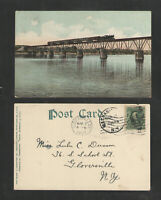 1907 BRIDGE ACROSS HUDSON RIVER NEAR MECHANICSIILLE NY UNDIVIDED BACK POSTCARD