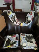 3 piece BATMAN Twin Sheet Set  VINTAGE 1992 DC Comics Catwoman  & Curtain