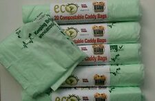 120 x 8L Compostable Caddy Liners - 8 litre Biobag Caddy bags for food waste
