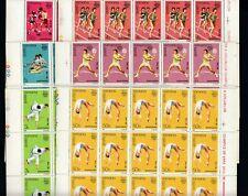 25x ROMANIA MNH 1988 Sport Olympic Games Box Tennis Full folded sheets  [A79