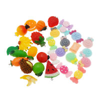 20Pcs Slime Charms Mixed Fruits Sweets Candy Slime Beads DIY Crafts Accessories